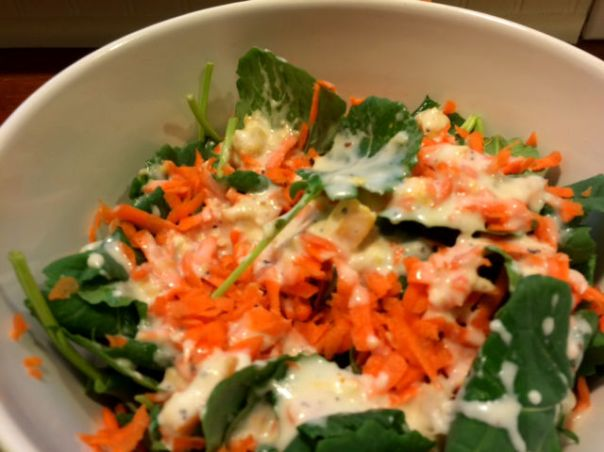 baby kale and carrot salad